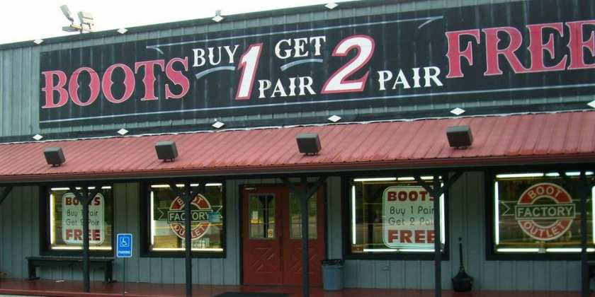 boot factory outlet pigeon forge two free boots